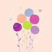 Vector illustration of floral back — Stockvector