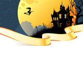 Vector illustration of Halloween back — Stock Vector