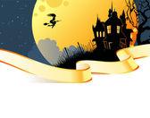 Vektor-illustration von halloween zurück — Stockvektor