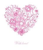 Vector illustration of Vector illustration of Floral heart — Stock Vector