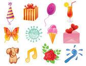 χαρούμενα γενέθλια μοτίβο — Διανυσματικό Αρχείο