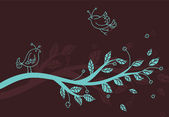 Vector illustration of Stylized tree — Vettoriale Stock