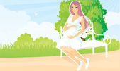 Pregnant woman — Stock Vector