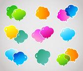 Vector illustration of Color speech bubbles — Stock Vector