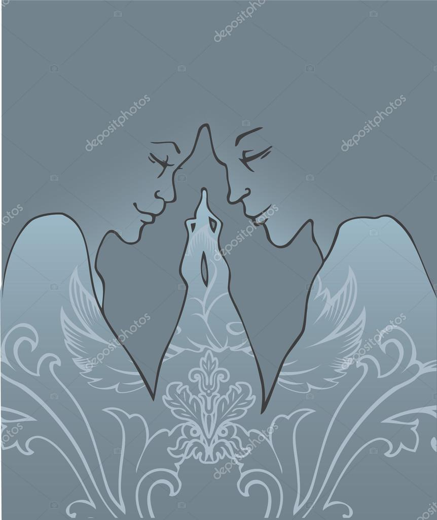 Vector illustration of Love couple — Stock Vector #13255375