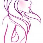 Vector illustration of beauty woman — Stock Vector