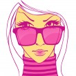 Woman in sunglasses - Stock vektor