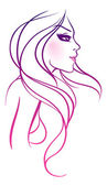 Vector illustration of beauty woman — Stockvektor