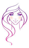 Vector illustration of beauty woman — Vector de stock