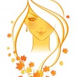 Vector illustration of Beauty woman - Imagens vectoriais em stock