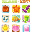 Royalty-Free Stock Vector Image: Vector illustration of Travel set
