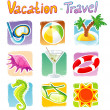 Vector illustration of Travel set - Stock Vector