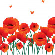 Red poppies back — Stock Vector #13279332