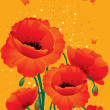 Red poppies back — Stock Vector #13279335