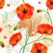 Seamless poppy pattern — Stock Vector
