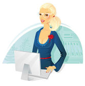 Vector illustration of Businesswoman — Stock Vector
