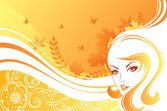Vektorové ilustrace krásy ženy — Stock vektor