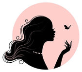 Woman's silhouette — Stock Vector