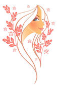 Beauty floral woman — Stock Vector
