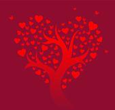 Albero stilizzato amore — Vettoriale Stock