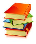 Vector illustration of books — Stock Vector