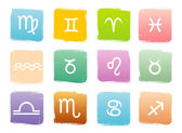 Horoscoop sterrenbeelden, vector set — Stockvector