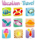 Vector illustration of Travel set — Stock Vector
