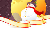 Vector illustration of Snowman — Stockvector