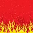 Royalty-Free Stock Imagem Vetorial: Vector illustration of Glowing fire background