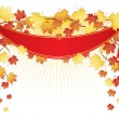 Vector illustration of Vector illustration of Autumn leafs back - 图库矢量图片
