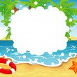 Vector illustration of Summer tropical banner — Stock Vector