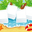 Vector illustration of Summer tropical banner — Stock Vector #13282467