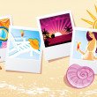 Vector illustration of Summer photo — Stock Vector