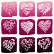 Vector illustration of set Hearts — Stock Vector #13283122