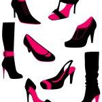 Women shoes, vector — Stock Vector #13283381