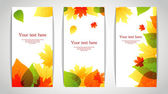 Vector illustration of Vector illustration of Autumn leafs back — Stock Vector