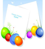 Vector illustration of Easter template — Vector de stock