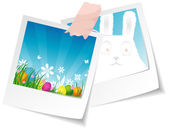 Vector illustration of Stickers set easter — Stock Vector