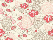 Vector illustration of Floral seamless pattern — Stock Vector