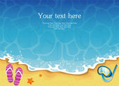 Vector illustration of Summer tropical banner — Vector de stock