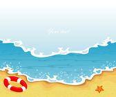 夏の熱帯バナーのベクトル イラスト — ストックベクタ