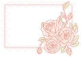Illustrazione vettoriale di sfondo con rose di bellezza — Vettoriale Stock
