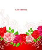 Vector illustration of Background with beauty roses — 图库矢量图片