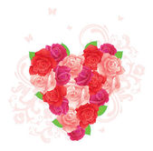 Vector illustration of Background with beauty roses — Stock Vector