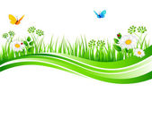 Vector illustration of Summer grass — Stock Vector