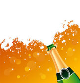 Vector illustration of champagne — Stock Vector