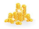 Golden coins — Vettoriale Stock