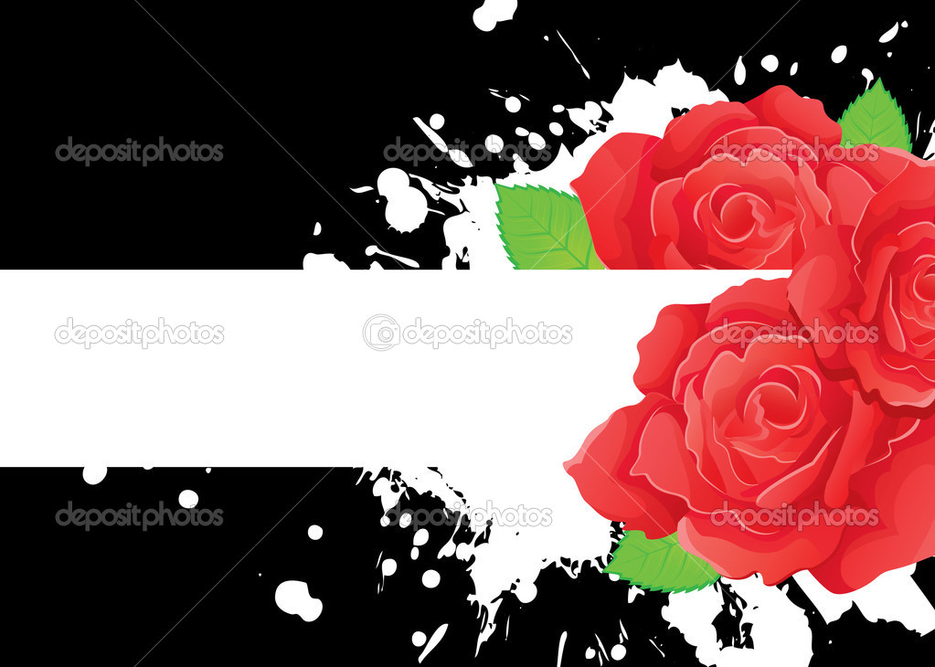 Vector illustration of Background with beauty roses  Stock Vector #13282606