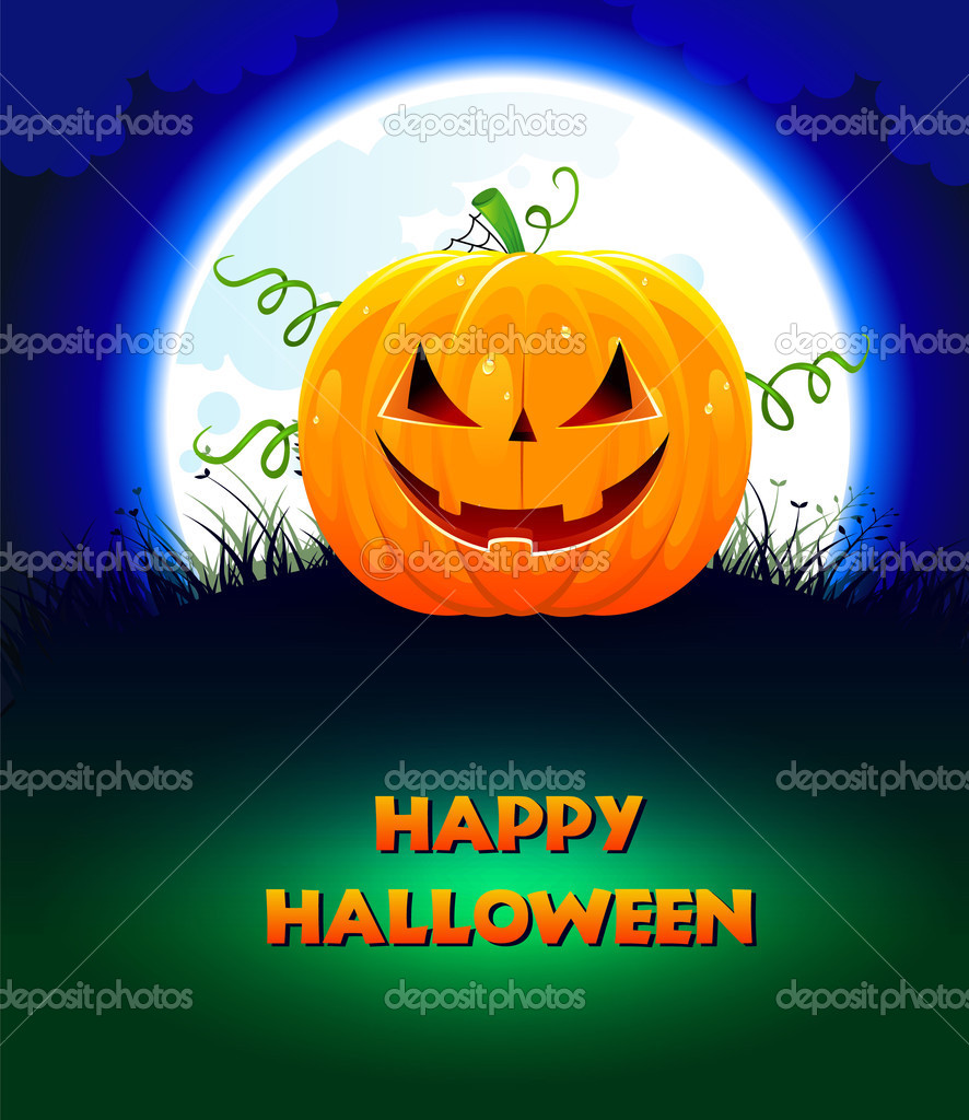 Vector illustration of Halloween pumpkin — Stock Vector #13444960