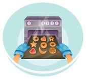 Cookies set — Stock Vector